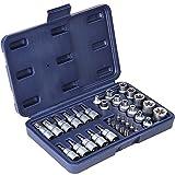 Timbertech 34-tlg. Steckschlüsselsatz inkl. Koffer Steckschlüssel- und Schraubendrehereinsätze Bit Set