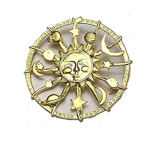Celestial Sonne, Mond, Sterne, Planeten Jewelllery Astrologie Brosche ()