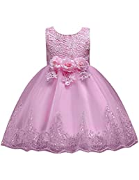 Vestito Frozen Bambina e Ragazze Abito Principessa Vestito da Cerimonia per  la Damigella Floreale Abito Lungo 42099db334e