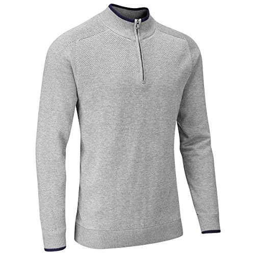 Stuburt Golf 2017 Mens Vapour Casual Thermal Half Zip Lined Pullover Grey Marl XXL
