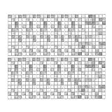 10pcs Selbstklebende Wasserdichte marmor mosaik wandkunst küche Fliesen Aufkleber wandpaneele selbstklebend, 3D Ziegel tapete, Brick Pattern Wallpaper für Schlafzimmer Wohnzimmer Moderne TV
