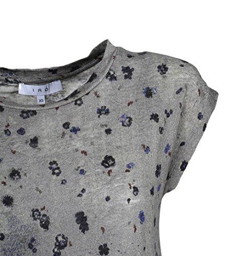 IRO Damen Shirt Fusia Aus Leinen Bedruckt GRY01 grey