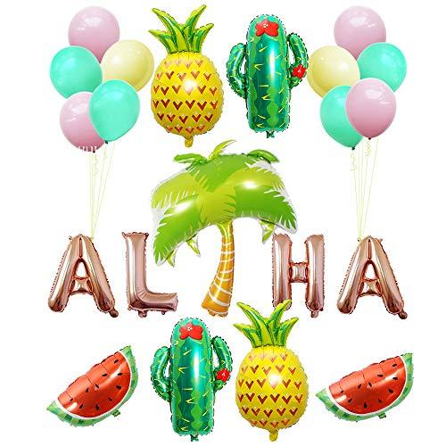 Amycute 72 pcs 12 ni/ños Vajilla de Desechable de Adulto ni/ños Hawaianos Vajilla Dise/ño Flamenco para Fiesta de cumplea/ños Infantil Decoracion de tem/ática de Tropical Piscina de Verano