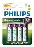 Blister von 4AA 1300mAh Philips Wiederaufladbare Batterien