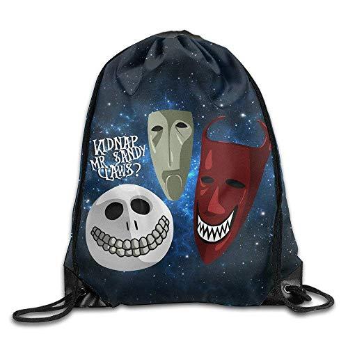 Etryrt Turnbeutel/Bedruckte Sportbeutel, Premium Drawstring Gym Bag Rucksack, Gym Jack Skellingtons Old Time Drawstring Backpack Bag