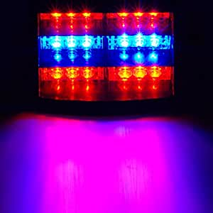 18 LED stroboscope Dash Police Gyrophare Bleu Rouge