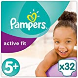 Pampers - Active Fit - Couches Taille 5+ (13-25 kg) - Pack Géant (x32 couches)
