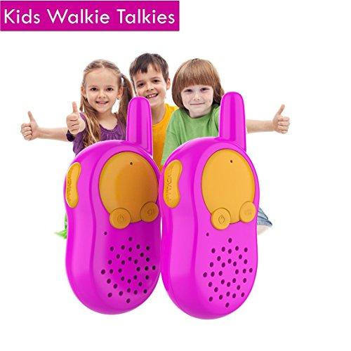 Rosa Walkie Talkie für Kinder Geschenke, Kinder Funkgerät, Woki Toki für Kinder, Geschenk Kleine Kinder, Outdoor Mädchen Spielzeug ab 4 5 6 7 8 9 10 Jahre, Geschenk Kinder ab 4 Jahre Mädchen