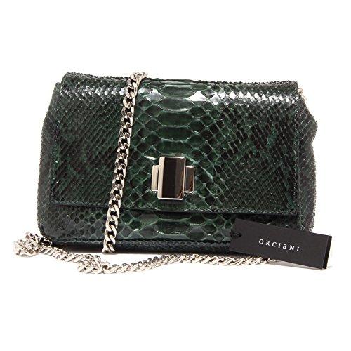 3586Q borsa donna ORCIANI pelle pregiata verde hand made bag woman Verde bottiglia
