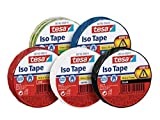 tesa 56192 ISO TAPE Isolierband, 10 m x 15 mm (5er Spar-Pack, Alle 5 Farben)