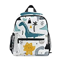 ISAOA 3D Printed Dino Scandinavian Style Kids Backpacks Kindergarten Preschool Toddler Boys/Girls Bookbag Cute Schoolbags for Age 2-8 Child