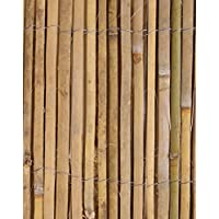 Papillon Bamboo Slat Natural Garden Fence Screening Roll Privacy Border Wind/Sun Protection 4.0 x 1.5m (13ft 1in x 4ft 11in)