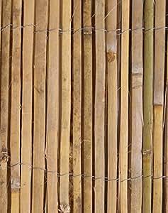bambus sichtschutz aus leisten bambusmatte 4m rolle 2m. Black Bedroom Furniture Sets. Home Design Ideas