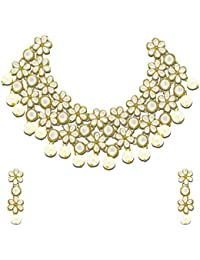 Zaveri Pearls Jewellery Set for Women (White)(ZPFK4300)