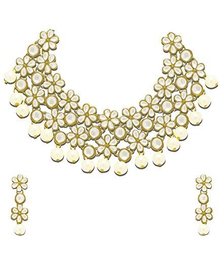 Zaveri Pearls Jewellery Set for Women WhiteZPFK4300