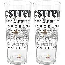 Dos Estrella Damm - Vasos de cerveza (2 unidades)