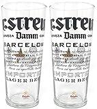 Zwei Estrella Damm Biergläser (Set von 2)