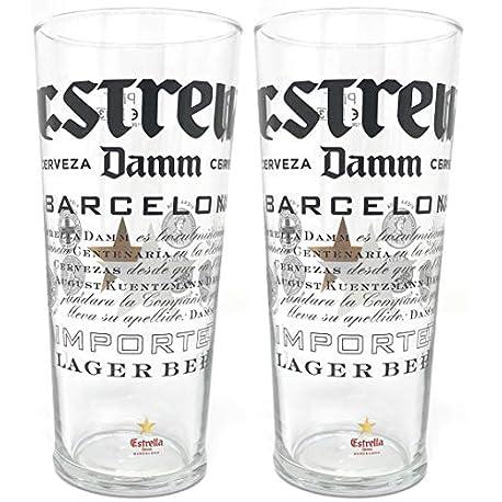 Dos Estrella Damm Vasos de cerveza 2 unidades