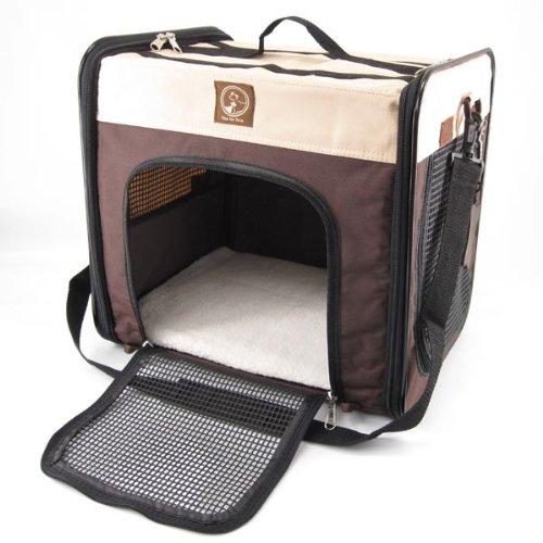 One für Haustiere Faltbox, der Cube, groß, Creme/Braun