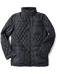 Vedoneire Mens Quilted Jacket (3081 Navy) Dark Blue Diamond Quilt Coat