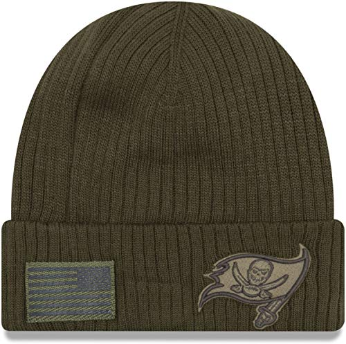 ccaneers Beanie On Field 2018 Salute to Service Knit Green - One-Size ()