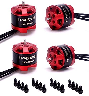 FPVDrone 1104 7500KV Brushless Motor for FPV RC Drone Mini Racing Drone Quadcopter (1104 Motor)