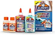 Elmer's Slime Kit, With 2 Elmer's Metallic Glue 05-fl Oz (147-Ml), 2 Elmer's Magical Liquid Slime Activator 2.