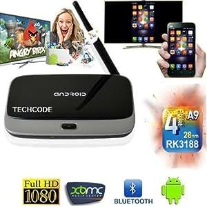 T-R42 Android 4.2 Quad Core Mini PC, Smart TV Box, Hisilikon® (RK3188, 2GB RAM, 8GB int. Speicher, HDMI 1.4, LAN, WLAN-n, Bluetooth 4.0) - Versand direkt aus Deutschland mit EU-Netzteil & 24 Monate Gewährleistung