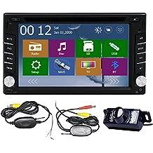 EinCar 6.2 Stereo pollici doppio di baccano in precipitare GPS Radio LCD Touchscreen DVD / CD / MP3 / MP4 FM AM capo unità Bluetooth Navigazione In Deck Car Audio HD WinCE 8.0 supporta / SD / subwoofer + GPS libero Antenna mappa telecamera posteriore wireless USB