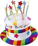 Widmann- Cappello Happy Birthday in Velluto, Multicolore, Taglia Unica, 2637H