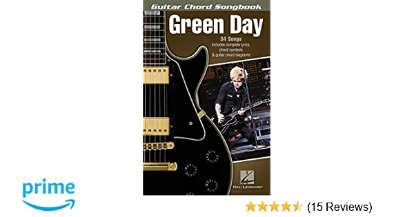 Green Day Guitar Chord Songbook Amazon Green Day Books