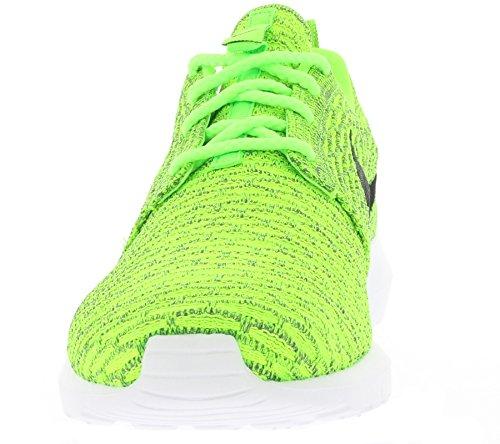 Nike Flyknit Rosherun mixte adulte, toile, sneaker low Volt/Black-Electric Green-Dark Gry