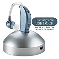 Digital Hearing - Personal Hearing Enhancement Sound with Extended Over 500hr Battery Life, Modern Blue,