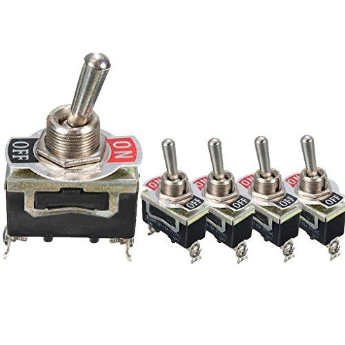 Demino 5pcs E-TEN1021 SPST 2Pin Auto-Boots-15A 250V EIN/AUS-Wippschalter Kippschalter Industrial Switch -