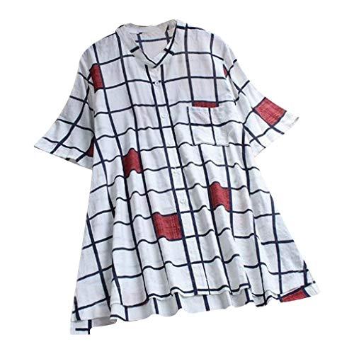 New Look Tops pour Femmes, Hauts Mode Femme T-Shirt en Coton et Lin décontracté T-Shirt à col en V|Chemisier Noir Femmes