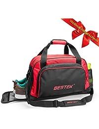 BESTEK Sport Gear Equipment Gym Duffle Bag Travel Luggage Bag Shoulder Handbag Including Shoes Compartment For...