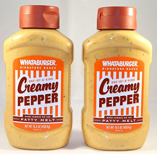 Whataburger Creamy Pepper Signature Sauce, 15.5 Oz., (Pack of 2)