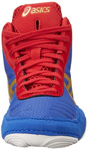 Asics JB Elite V2.0 GS Wrestling Shoe (Little Kid/Big Kid) Jet Blue/Olympic Gold/Red