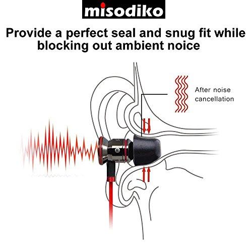 misodiko Memory Foam In-Ear Kopfhörer Ohrstöpsel – für Kopfhörer mit Ø 4,1mm – 5mm Inner Ear Nozzle Tips | Ersatz Schaum Tipps | Geräuschunterdrückung | M400, Ø4mm | 3Paar, S (Klein) - 6
