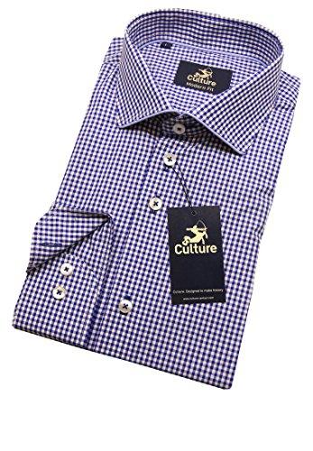 Culture Herren Oberhemd Marineblau