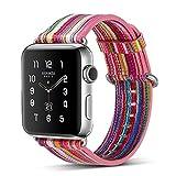 Armband für Apple Watch 38mm,PU Leder Ersatzband mit Edelstahl Gürtelschnalle Leder Uhrenarmband für Apple Watch 38mm Series 1/2/3 (A) (4)