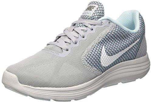 Nike Revolution 3, Scarpe da Running Donna Multicolore (Wolf Greywhiteglacier Bluecool Grey)