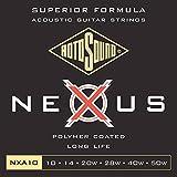 Rotosound CRS NXA10 Jeu de Cordes nexus filé en Bronze phosphoreux pour Guitare acoustique 10-14-20-28-40-50