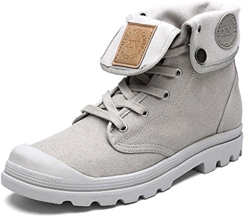 Gomnear Hombres Botas de nieve Zapatos de senderismo Ligero Invierno Cima mas alta Antideslizante Calentar Lona...