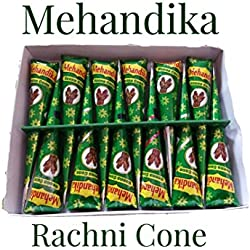 Mehandika Herbal Henna Mehandi cone (1 Box Pack of 12)