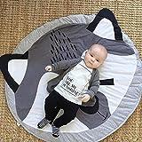 Baby Krabbeldecke Baumwolle Spieldecke Rund Spielmatte Laufgittereinlage Teppich Kriechmatte Baby...