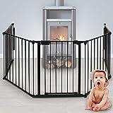 Infantastic - Barrière de Sécurité Enfant 300 x 75 cm (L x H) Grille de Protection pour Cheminée/Escaliers
