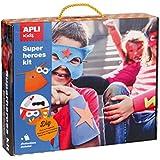 Niños Apli Crear su propio juego de super héroe Craft con cuatro diseños (un tamaño, Multi-Color)