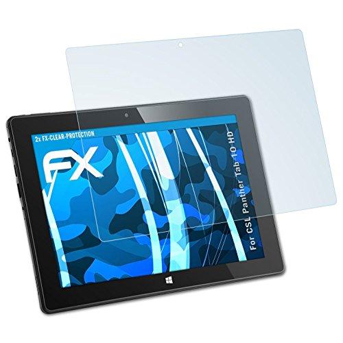 atFolix Schutzfolie kompatibel mit CSL Panther Tab 10 HD Folie, ultraklare FX Bildschirmschutzfolie (2X)