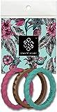 Knot Theory Alliance en Silicone pour Femme Or Rose, argenté, Rose, Violet, Bleu Sarcelle, Turquoise, Blanc - Cadeau pour Femme de Mari 6 Joy 3-Pack
